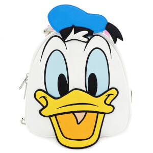 Loungefly Disney Donald and Daisy Duck Reversible Mini Backpack