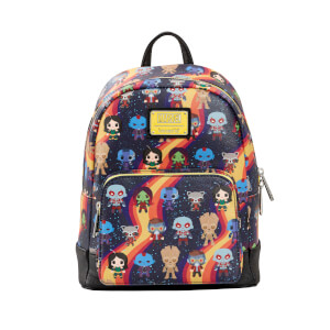 Loungefly Marvel Guardians Chibi Aop Mini Backpack