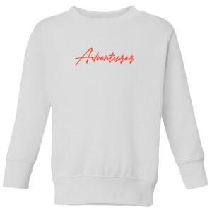 Adventurer Script Kids' Sweatshirt - White