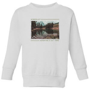 Forest Photo Scene Wonderlust Adventure Is Out There Kids' Sweatshirt - White