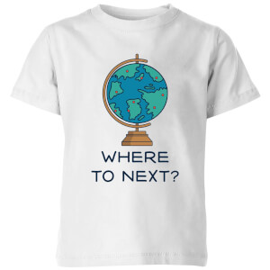 Globe Where To Next? Kids' T-Shirt - White
