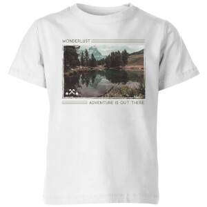 Forest Photo Scene Wonderlust Adventure Is Out There Kids' T-Shirt - White