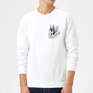Swallow Free Spirit Pocket Print Sweatshirt - White