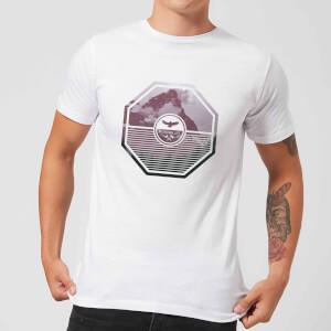 Octagon Mountain Photo Graphic Men's T-Shirt - White