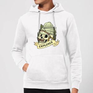 Explorer Skull Hoodie - White