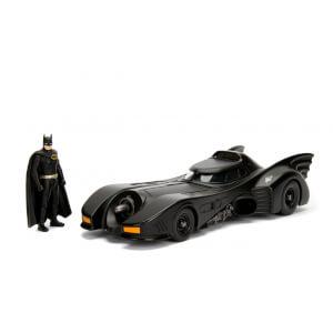 Jada Die Cast 1:24 1989 Batmobile with Diecast Batman