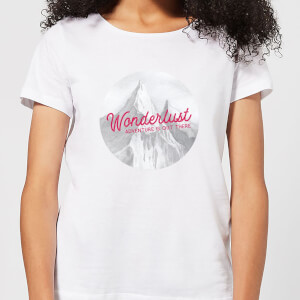 Mountain Wonderlust Adventure Is Out There Women's T-Shirt - White