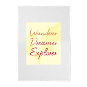 Wander Dreamer Explorer Background Cotton Tea Towel