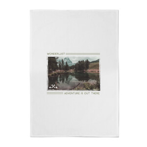 Forest Photo Scene Wonderlust Adventure Is Out There Cotton Tea Towel