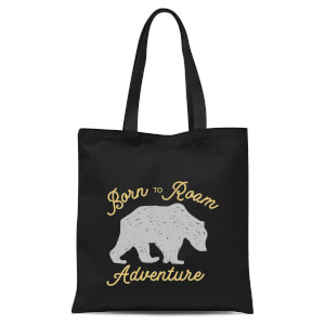 Adventure Born To Roam Tote Bag - Black
