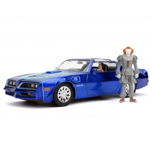 Jada Die Cast IT 1:24 Henry Bower's Pontiac Firebird and Pennywise Figure