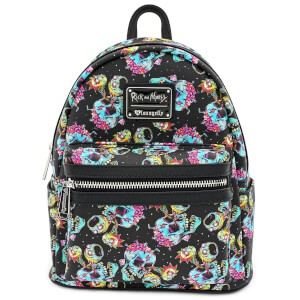 Loungefly Rick & Morty Skulls Mini Backpack
