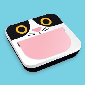 Cat Sticky Notes Dispenser