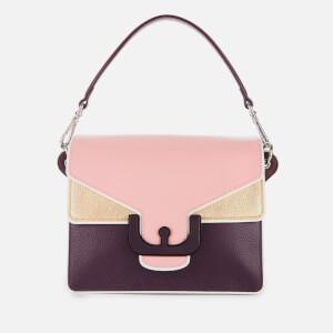 Coccinelle Women's Ambrine Shoulder Bag - Plum/Bloss/Plat