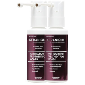 Keranique Dual Minoxidil 2% Spray Extended Nozzle (2 x 2 Pack)