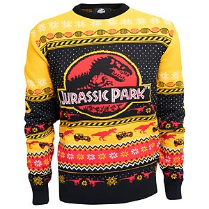 Jurassic Park Christmas Knitted Sweater - Yellow