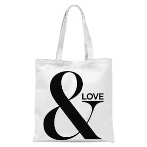 & Love Tote Bag - White