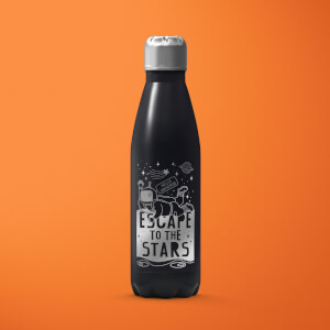 Escape to the Stars Stainless Steel Water Bottle - Black