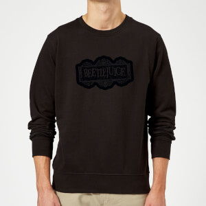 Beetlejuice Black Logo Sweatshirt - Black