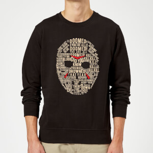 Friday the 13th Mask Sweatshirt - Black