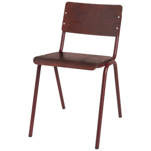 Broste Copenhagen Ole Steel Wooden Chair - Wild Ginger