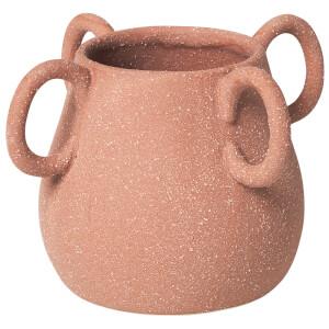Broste Copenhagen Horn Ceramic Vase - Terracotta