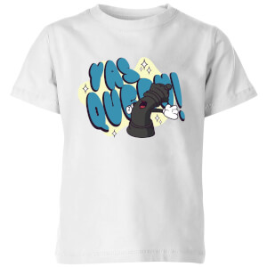 Yas Queen! Cartoon Kids' T-Shirt - White