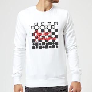 Checkers Board Champion Sweatshirt - White