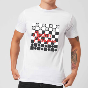 Checkers Board Champion Men's T-Shirt - White