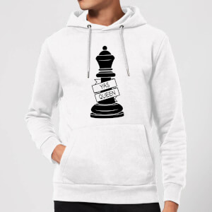 Queen Chess Piece Yas Queen Hoodie - White