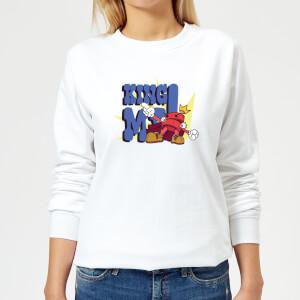 King Me! Checker Women's Sweatshirt - White