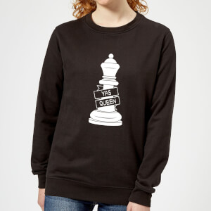 Queen Chess Piece Yas Queen Women's Sweatshirt - Black