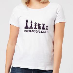 Weapons Of Choice  Women's T-Shirt - White