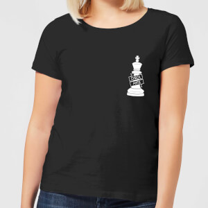 Check Mate Pocket Print Women's T-Shirt - Black