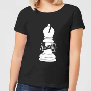 Bishop Chess Piece Faithful Women's T-Shirt - Black