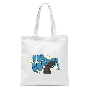 Yas Queen! Cartoon Tote Bag - White