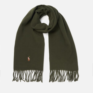 Polo Ralph Lauren Men's Wool Scarf - Estate Olive
