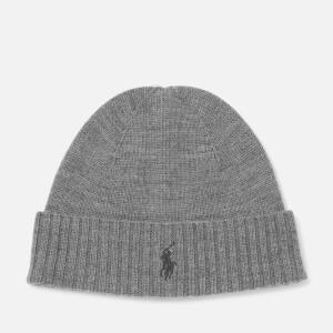 Polo Ralph Lauren Men's Merino Beanie Hat - Fawn Grey Heather