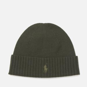 Polo Ralph Lauren Men's Merino Beanie Hat - Oil Cloth Green