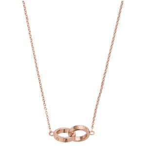 Olivia Burton Women's Interlink Chain Necklace - Rose Gold