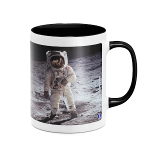 NASA Moon Landing Mug - White/Black