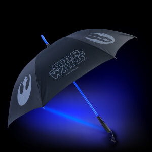 Star Wars Official Light up Lightsaber Umbrella with Torch Handle - Light Side (Blue) - Zavvi Exclusive