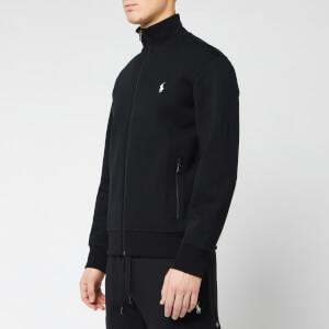 Polo Ralph Lauren Men's Full Zip Mock Neck Sweatshirt - Polo Black/Cream