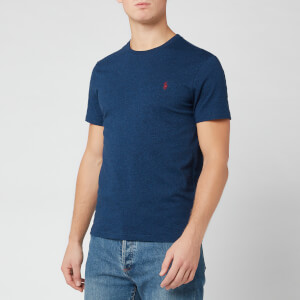 Polo Ralph Lauren Men's Short Sleeve Basic Cotton T-Shirt - Monroe Blue Heather