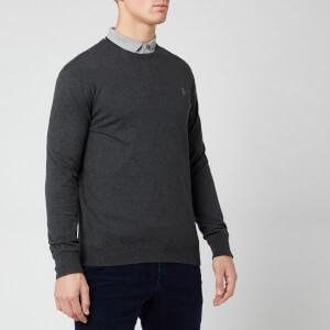 Polo Ralph Lauren Men's Pima Knit Crew Neck Jumper - Dark Charcoal Heather