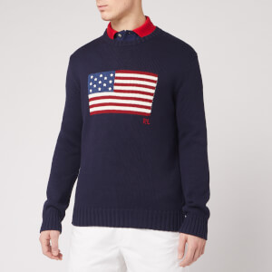 Polo Ralph Lauren Men's Iconic Flag Jumper - Navy