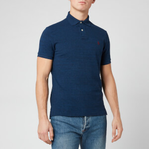 Polo Ralph Lauren Men's Custom Fit Basic Mesh Polo Shirt - Monroe Blue Heather