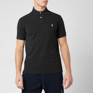 Polo Ralph Lauren Men's Custom Slim Fit Polo Shirt - Black Marl Heather