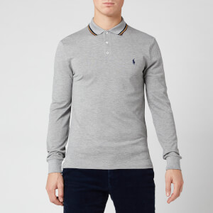 Polo Ralph Lauren Men's Tipped Long Sleeve Polo Shirt - Andover Heather