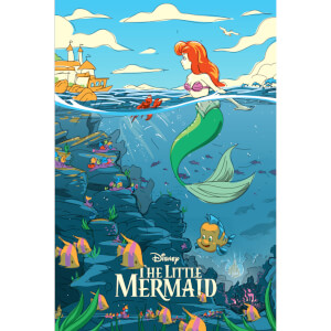 Disney The Little Mermaid Lithograph Print by Florey
